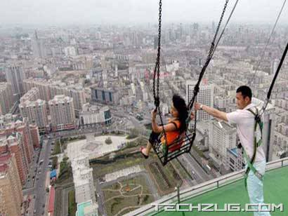 Dare To Go on World's Highest SwingHelicopter