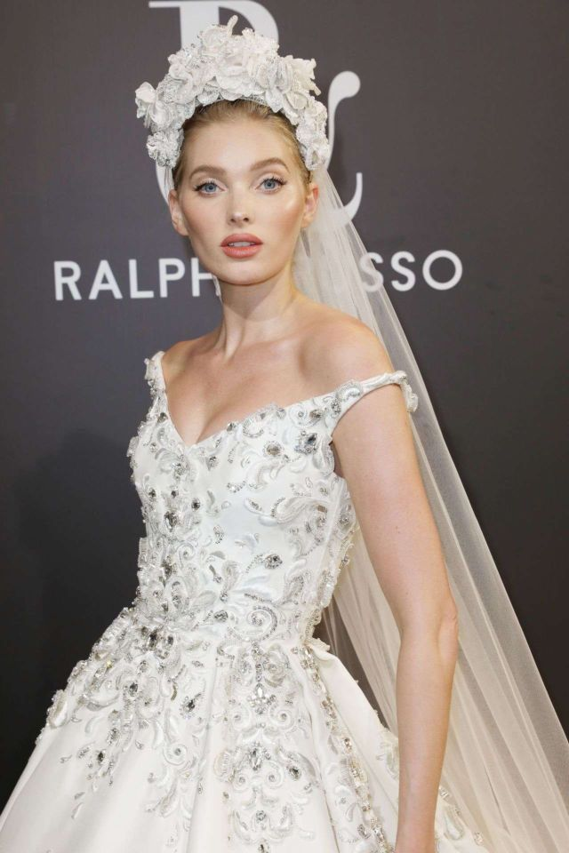 Elsa Hosk Walks At Ralph And Russo Show In Paris Fashion Week 2019