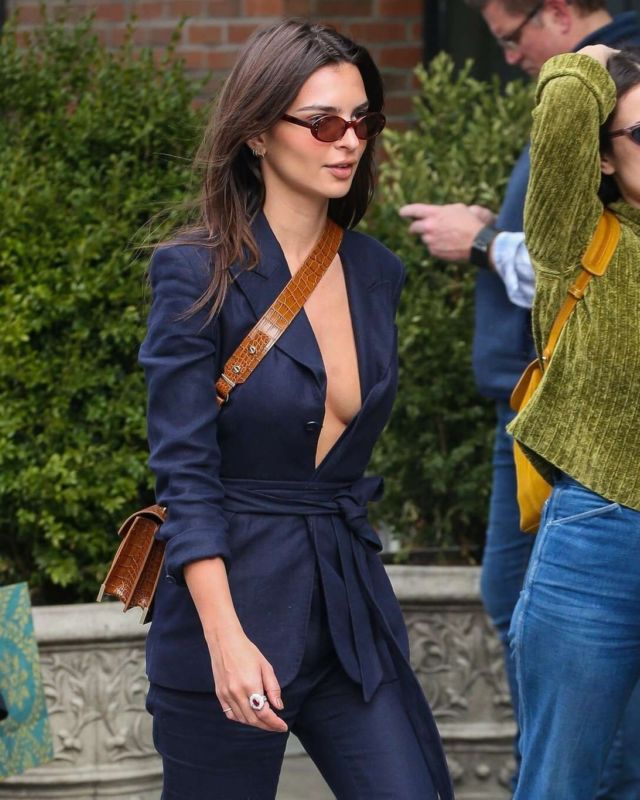 Emily Ratajkowski Candids Out In New York