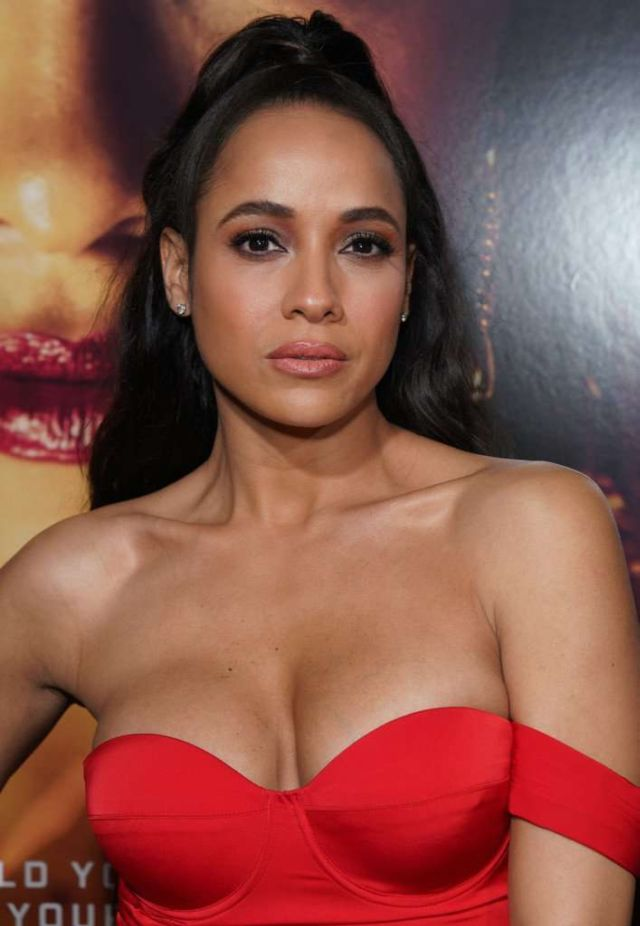 Dania Ramirez In Red At The Premiere Of 'Miss Bala' In LA