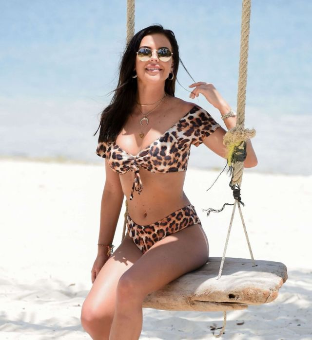 Shelby Tribble Shoots In A Leopard Print Bikini In Thailand