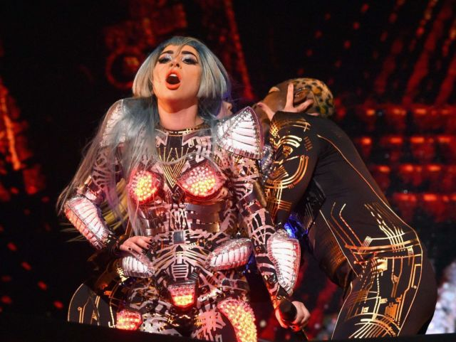 Lady Gaga Performing Live At The 'Lady Gaga: Enigma' Concert