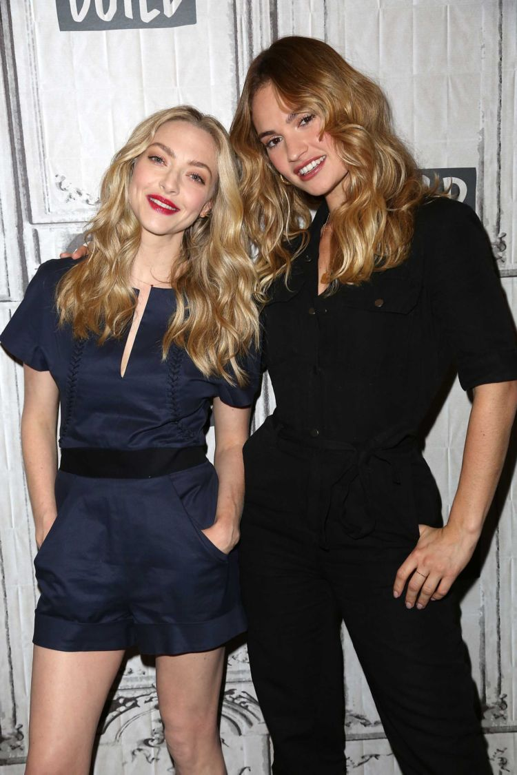 Amanda Seyfried And Lily James Together At AOL Build