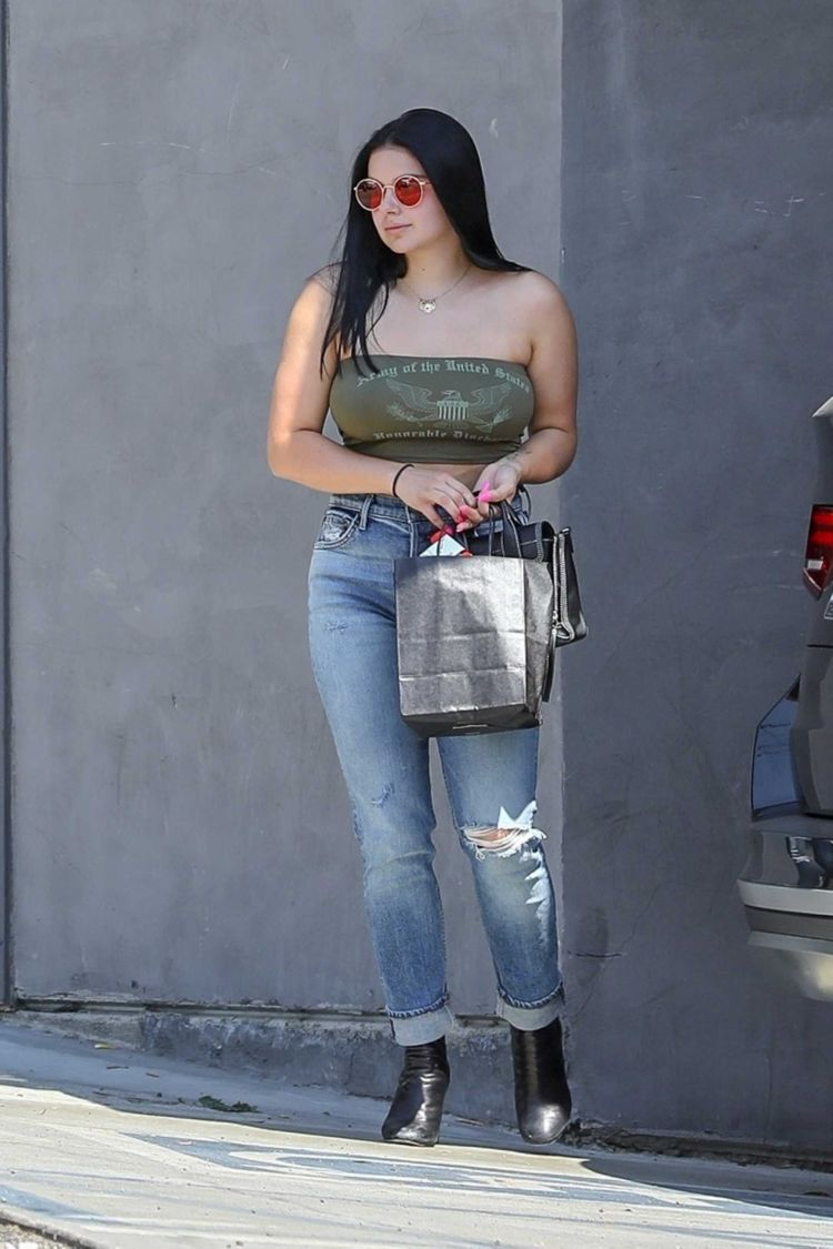 Ariel Winter Leaving Nine Zero One Hair Salon In LA