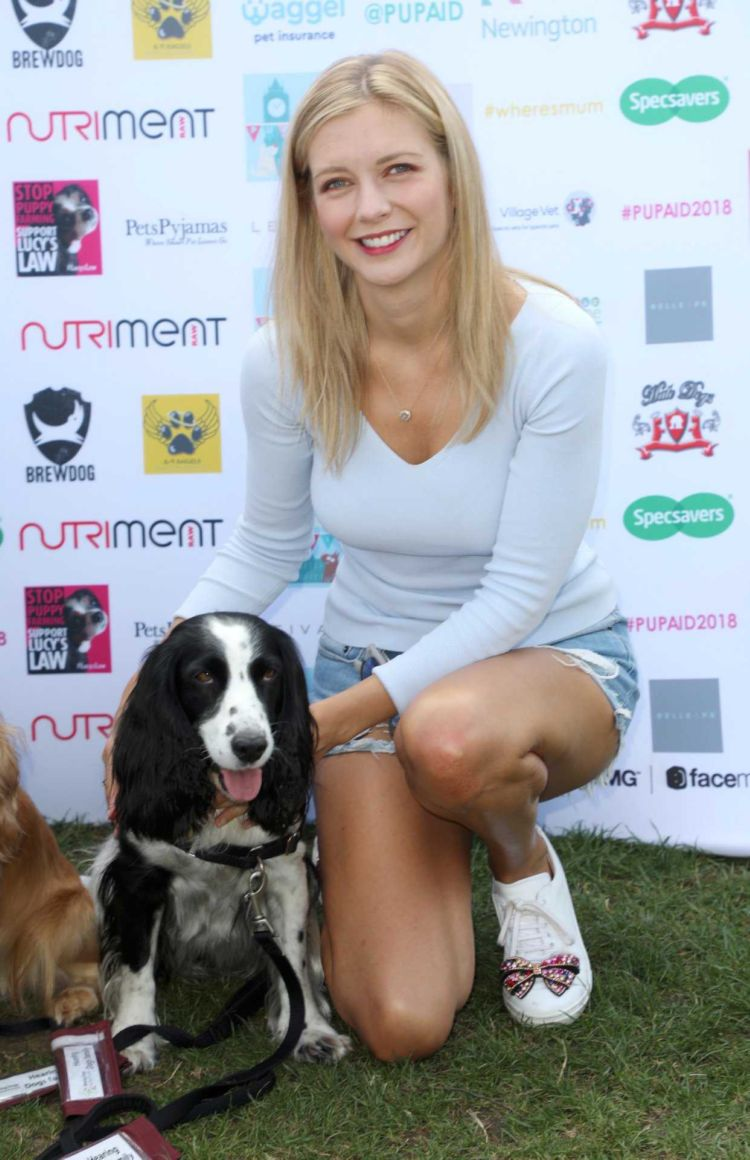 Rachel Riley Spotted At PupAid Puppy Farm Awareness Day