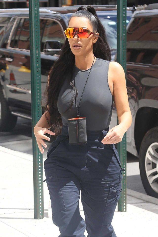 Kim Kardashian Candids Out In New York