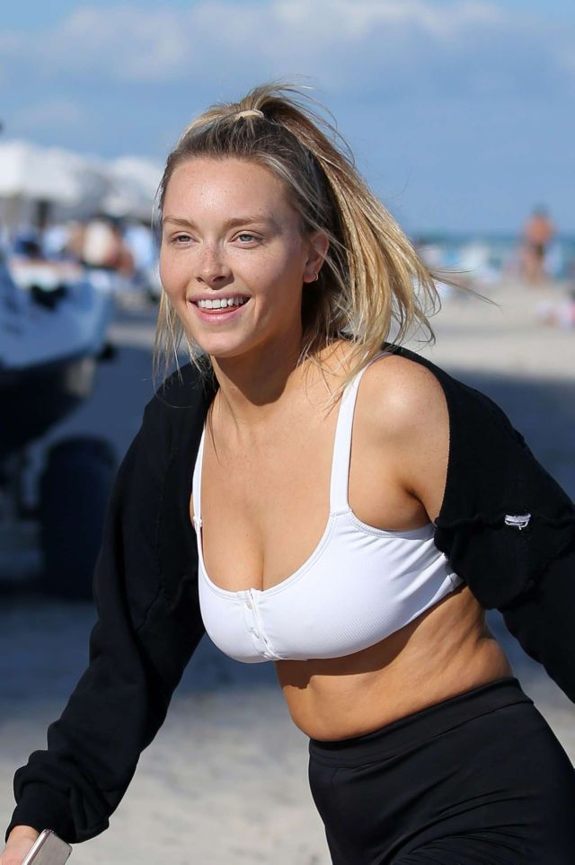 Camille Kostek Takes A Jet Skii Ride In Miami