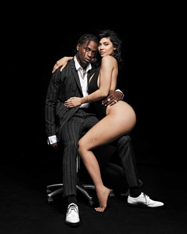 Kylie Jenner Pose With Travis Scott In GQ Magazine
