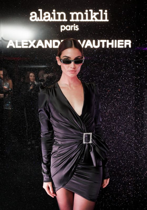 Lily Aldridge Looked Super Stylish At Alain Mikli x Alexandre Vauthier Party
