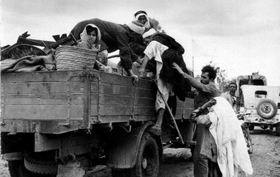 Palestinen vluchten in 1948 - 70 jaar nakba