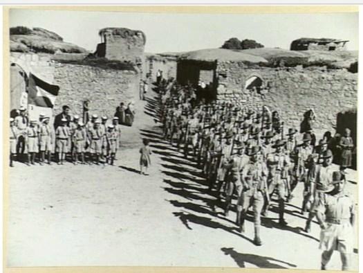 Britse kolonisatietroepen in Deir Sunayd (1940)