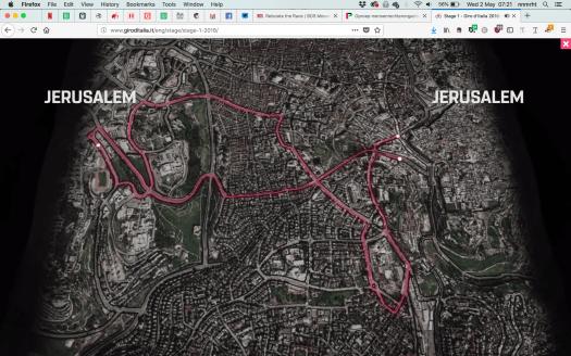 Route Giro Jeruzalem