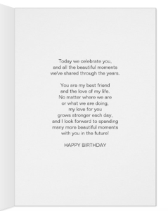 To My Husband With Love 70th Birthday Card