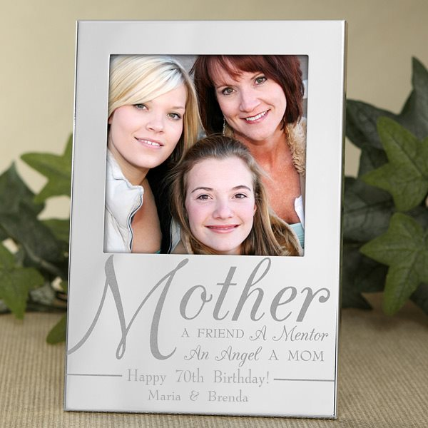 Mother Picture Frame - 70th Birthday Gift Ideas for Mom