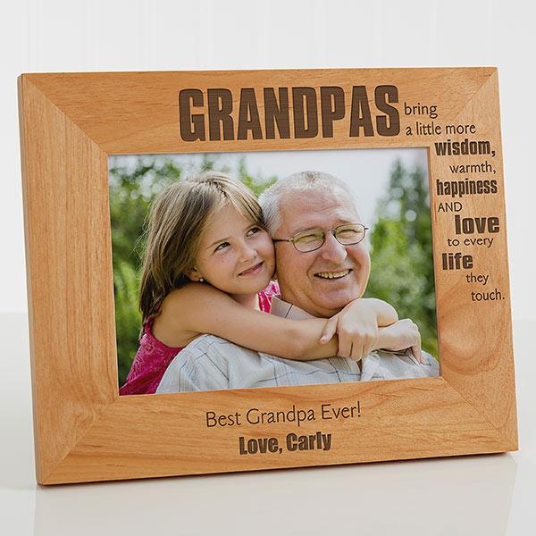 Grandpa Picture Frame - 70th Birthday Gift Idea