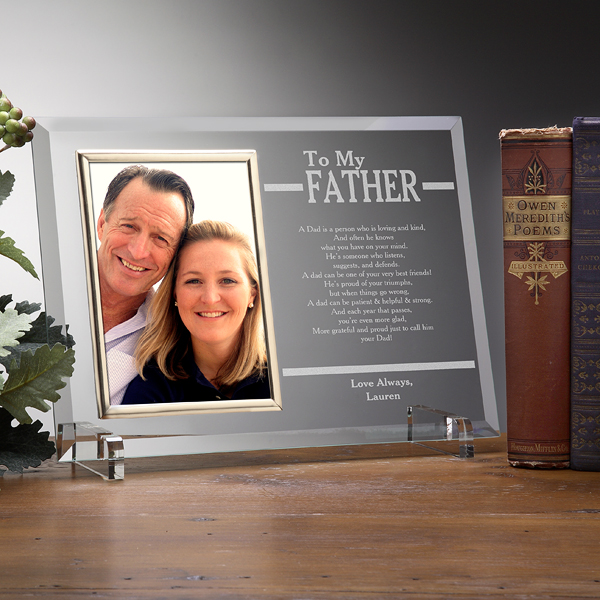 To My Father Personalized Frame - 70th Birthday Gift Ideas for Dad