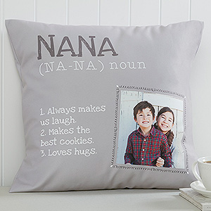 Personalized Definition of Grandma Throw Pillow