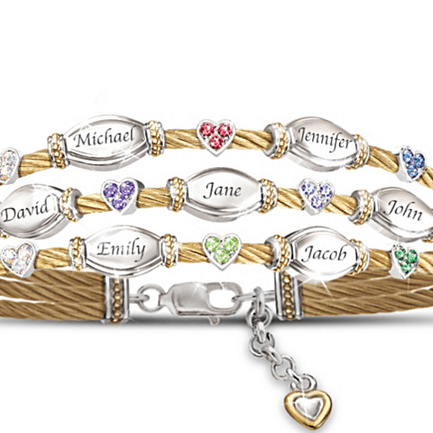 Personalized Strength of Family Bracelet - 70th Birthday Gift Ideas for Mom