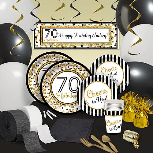 Cheers to You 70th Birthday Party Decoration Kit