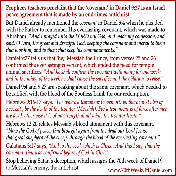 The covenant of the 70th week of Daniel 9 prophecy
