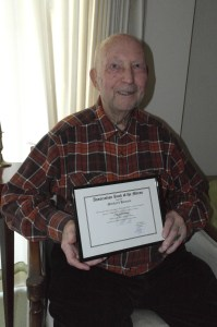Charles Bruns honored
