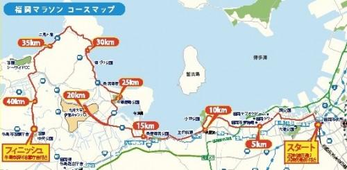福岡マラソン2015コース全体2