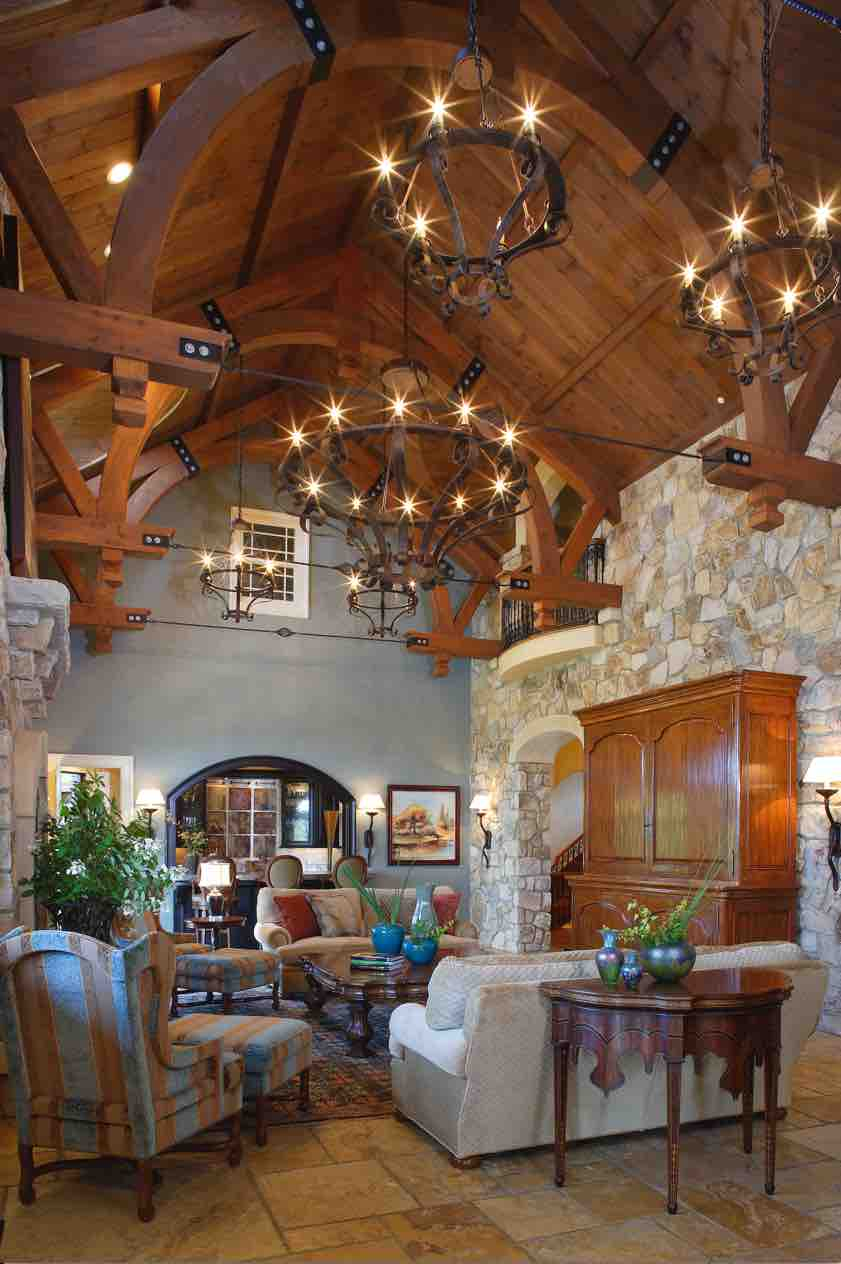 A New World Tuscan Villa The Great Room Design