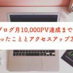 ブログ月1万PV達成のためにやったこと・収益源・アクセスアップ方法を解説します