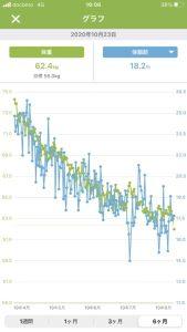 体重・体脂肪推移グラフ