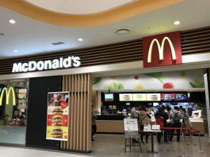 マクドナルドの入り口