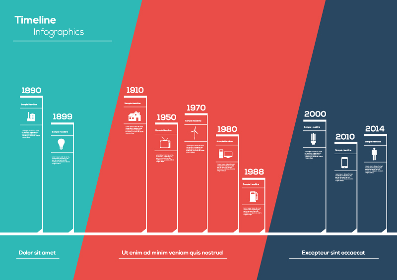 timeline infographic white line vector free vector graphic download