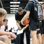 Jonathan Williams coaching basketball