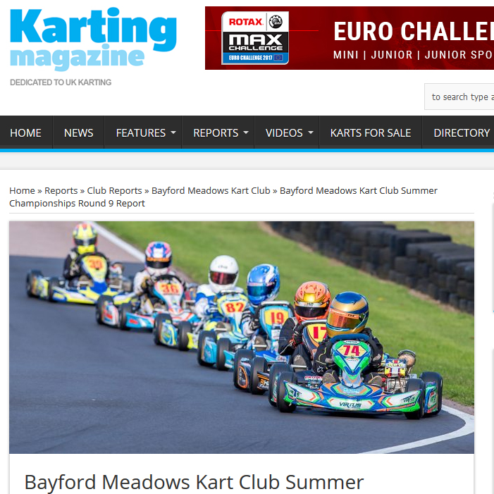 Bayford Meadows Kart Club Summer Championships Round 9 Report