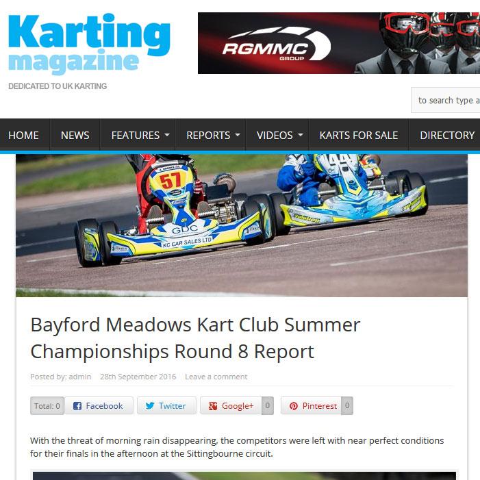 Bayford Meadows Kart Club Summer Championships Round 8 Report