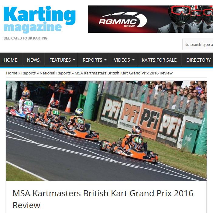 MSA Kartmasters British Kart Grand Prix 2016 Review