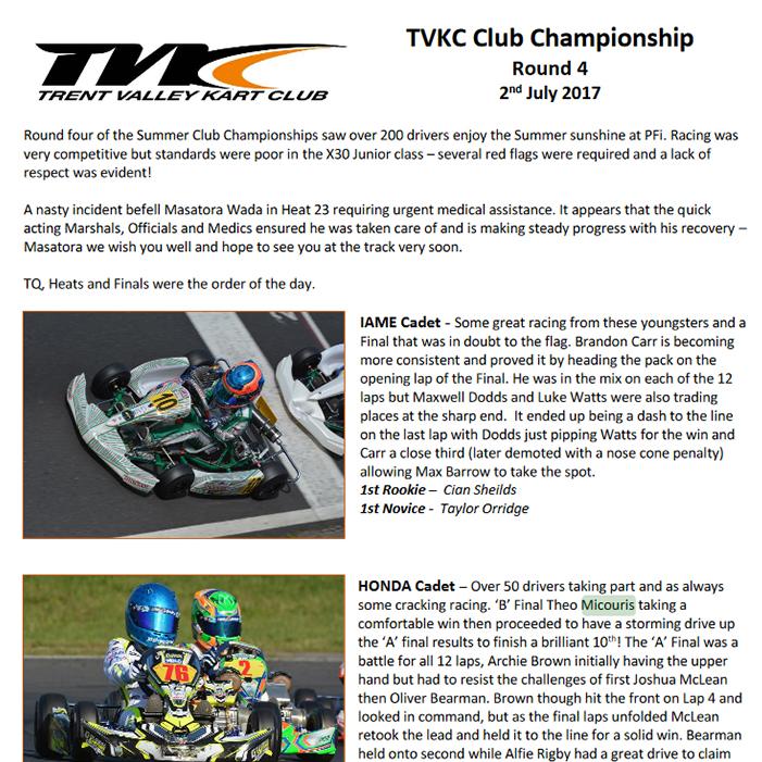 TVKC  Club Championship Round 4