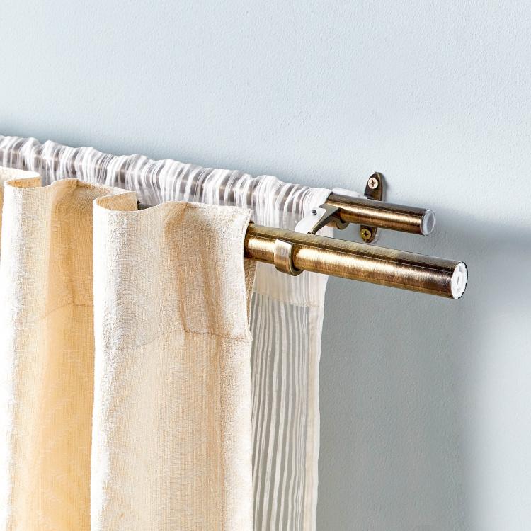 double extendable curtain rod 112 274 cms