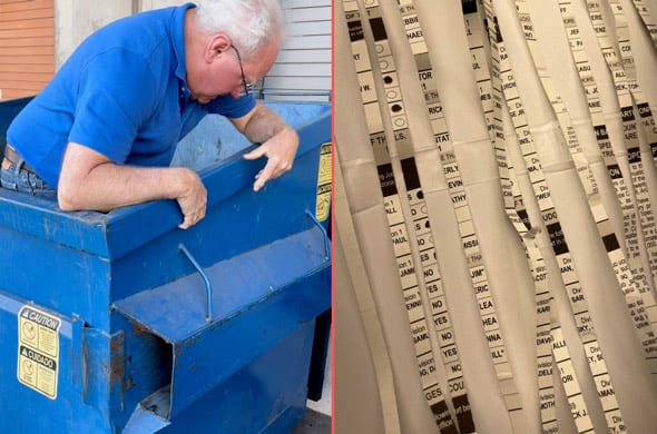 piles of ballots were reportedly found shredded in a dumpster