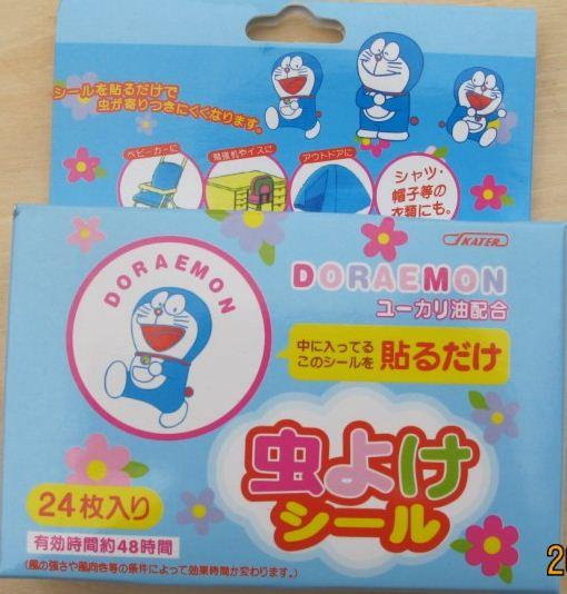 24 pcs x Doraemon Natural Citronella Oil Mosquito Repellent Patches
