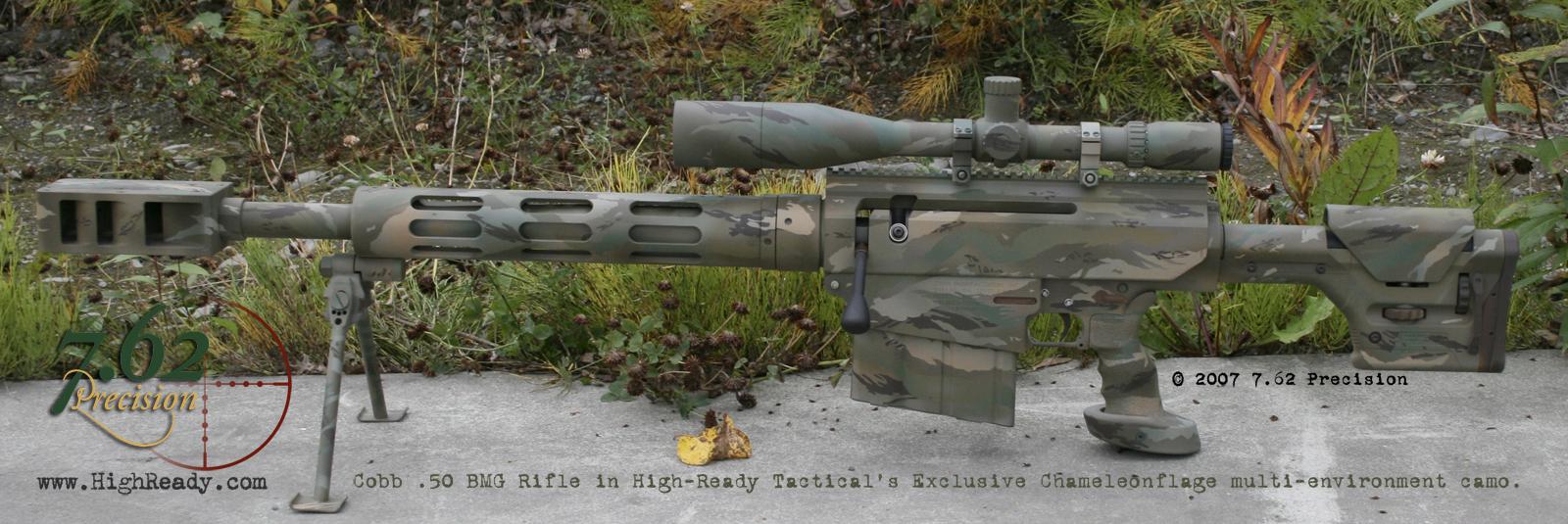Cobb .50 BMG rifle in Chameleonflage Tigerstripe