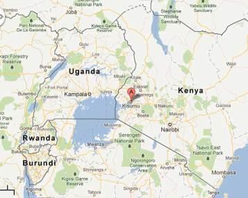 Kisumu location in Kenya. (Map courtesy of Google Maps)