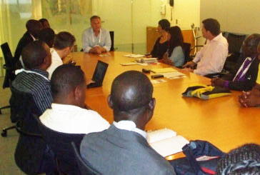 LGBT activists meet with World Bank staff on July 26. (Photo by Eric Scharf)