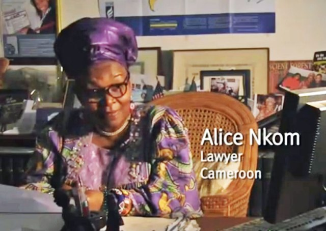 Human rights lawyer Alice Nkom discusses death threats she has received. (Click image for video)