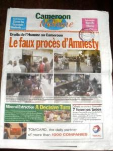 Page 1 of Cameroon Tribune