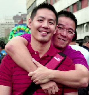 Gary Lim and Kenneth Chee. (Click image to see video about them and their legal challenge of Singapore's anti-gay law)