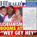 Front page of Ghana Herald.