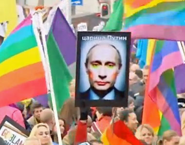 Amsterdam protest against Russian President Vladimir Putin.