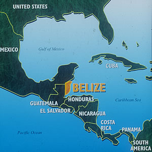 Location of Belize
