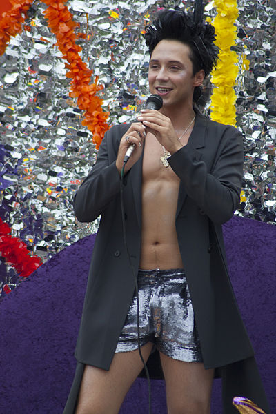 Johnny Weir (Photo by Dan Leveille via Wikimedia Commons)