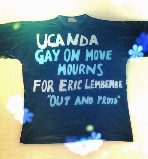 Ugandan supporters plan to wear this T-shirt to protest the murder of activist Eric Lembembe in Cameroon.